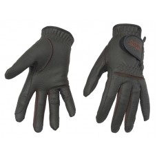 RIDING GLOVES SYNTHETIC LEATHER, HORSE COMFORT