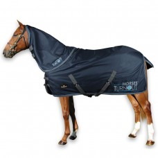 "Paddock Rug ""Horses Turnout"" with Neck"