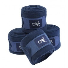FLEECE BANDAGES HORSE COMFORT NAVY BLUE, 4 PCS, 4M